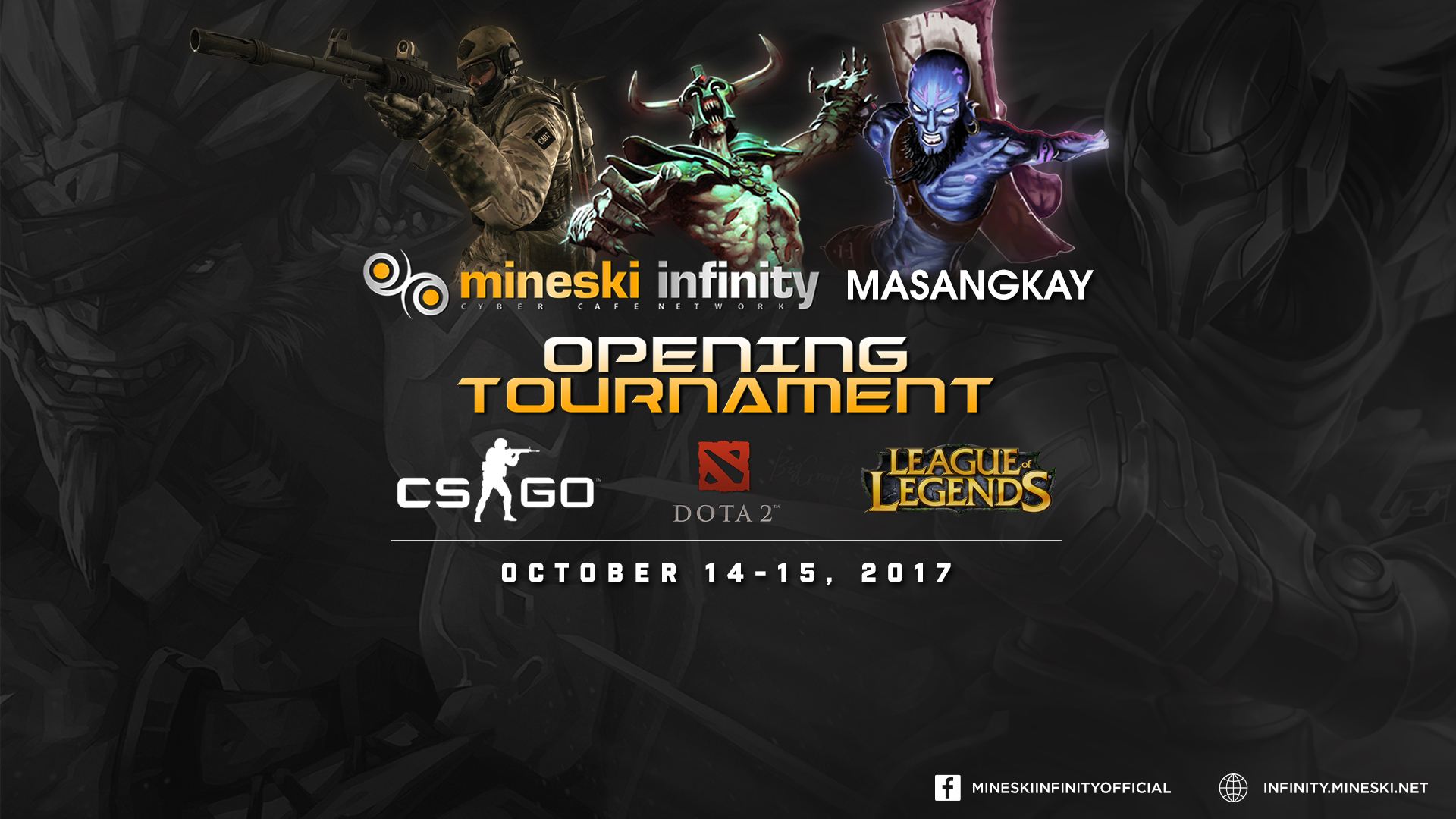 mineski infinity masangkay opening tournament dota 2 lol cs